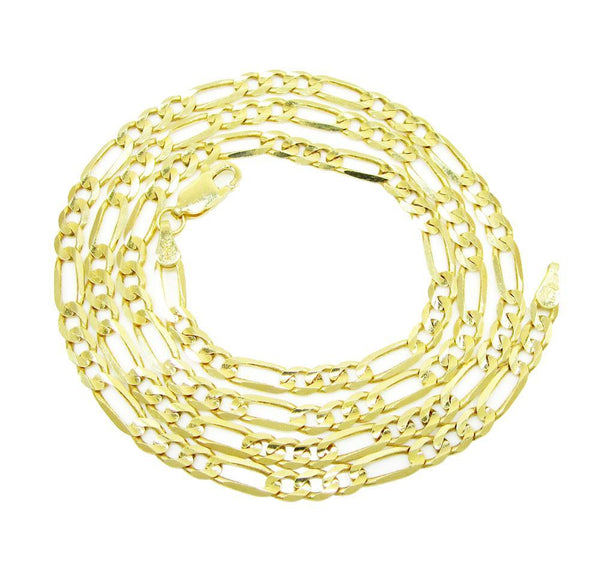 10K Yellow Gold Hollow Figaro Chain 4.5MM