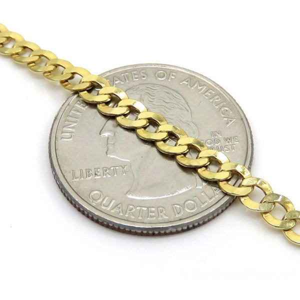10K Yellow Gold Hollow Miami Cuban Chain 6MM