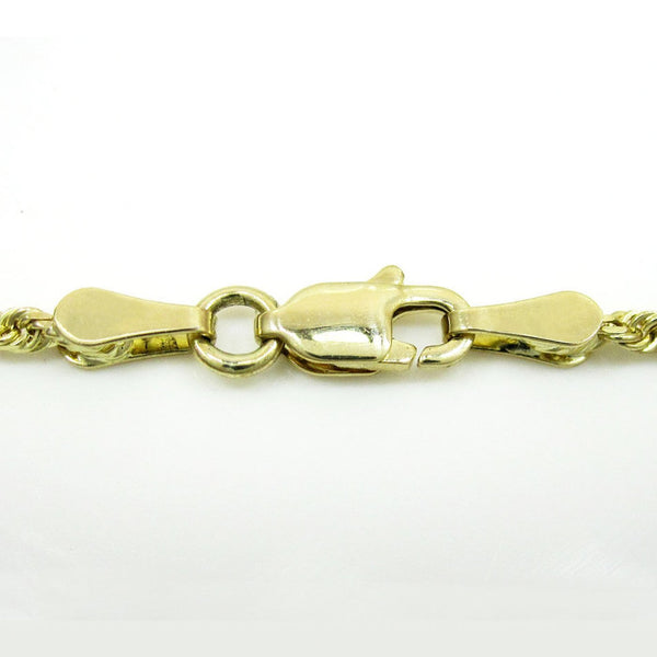 Gold Rope Chain Diamond Cut