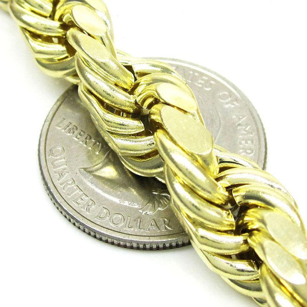 10K Yellow Gold Solid Rope Chain 20MM