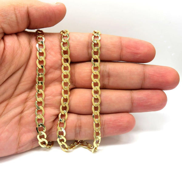 10K Yellow Gold Miami Cuban Chain 7MM