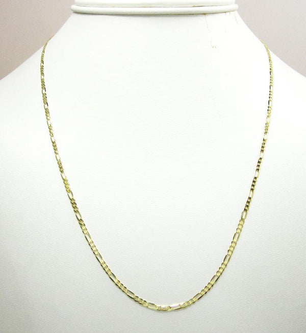 Gold Hollow Figaro Chain