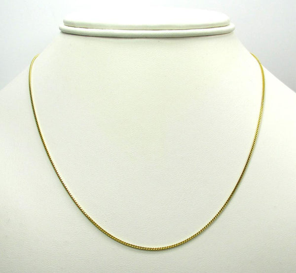 10K Yellow Gold Diamond Cut Franco Chain 2.2MM