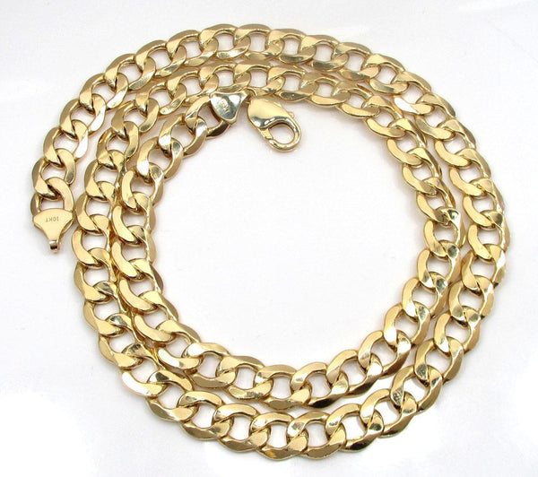 10K Yellow Gold Cuban Chain 9.5MM