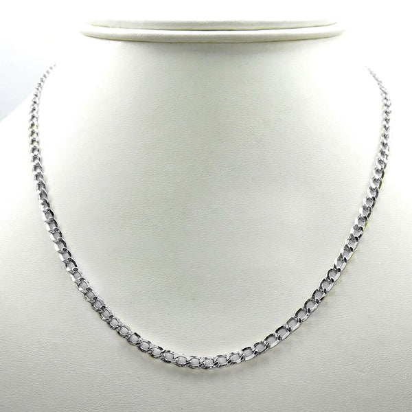 14K White Gold Solid Miami Cuban Chain 7MM