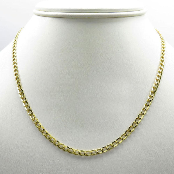 Yellow Gold Hollow Cuban Chain