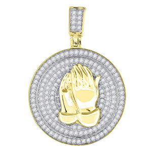 Praying Hands Religious Pendant Charm