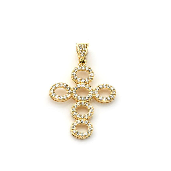 10K Yellow Gold Fashion Cross Pendant 4.10 Grams - Jawa Jewelers