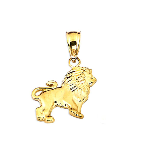 10K Yellow Gold  1.00 Grams Lion Charm Pendent - Jawa Jewelers