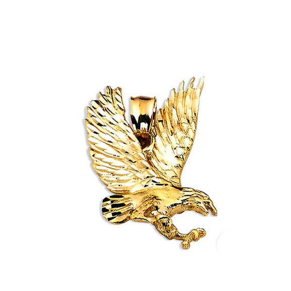 10K Yellow Gold  4.90 Grams Golden Eagle Fashion Pendent - Jawa Jewelers