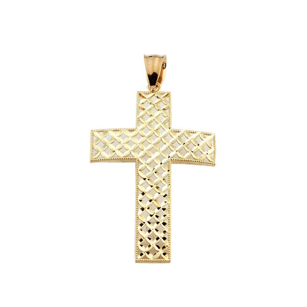 10K Yellow Gold 2.10 Grams Fashion Cross Pendent - Jawa Jewelers