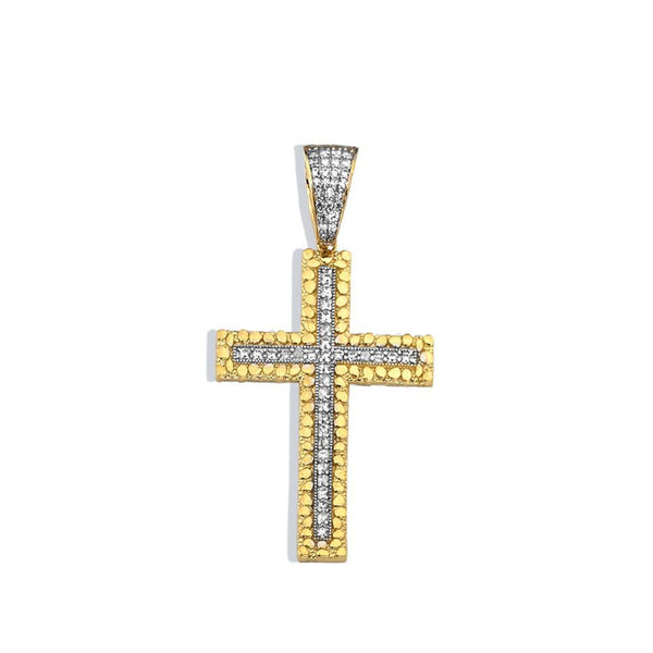 10K Yellow Gold 5.90 Grams Fashion Cross Pendent - Jawa Jewelers