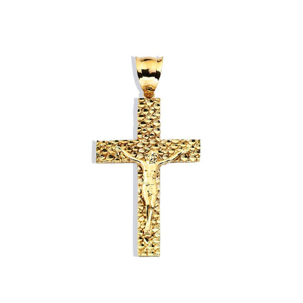 10K Yellow Gold 5.30 Grams Fashion Cross Chopard Pendent - Jawa Jewelers