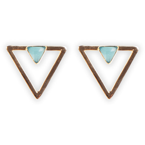Cleo Smalls Aqua Chalcedony Earrings
