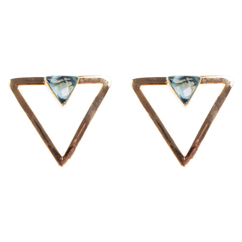 Cleo Smalls Blue Topaz Quartz Earrings