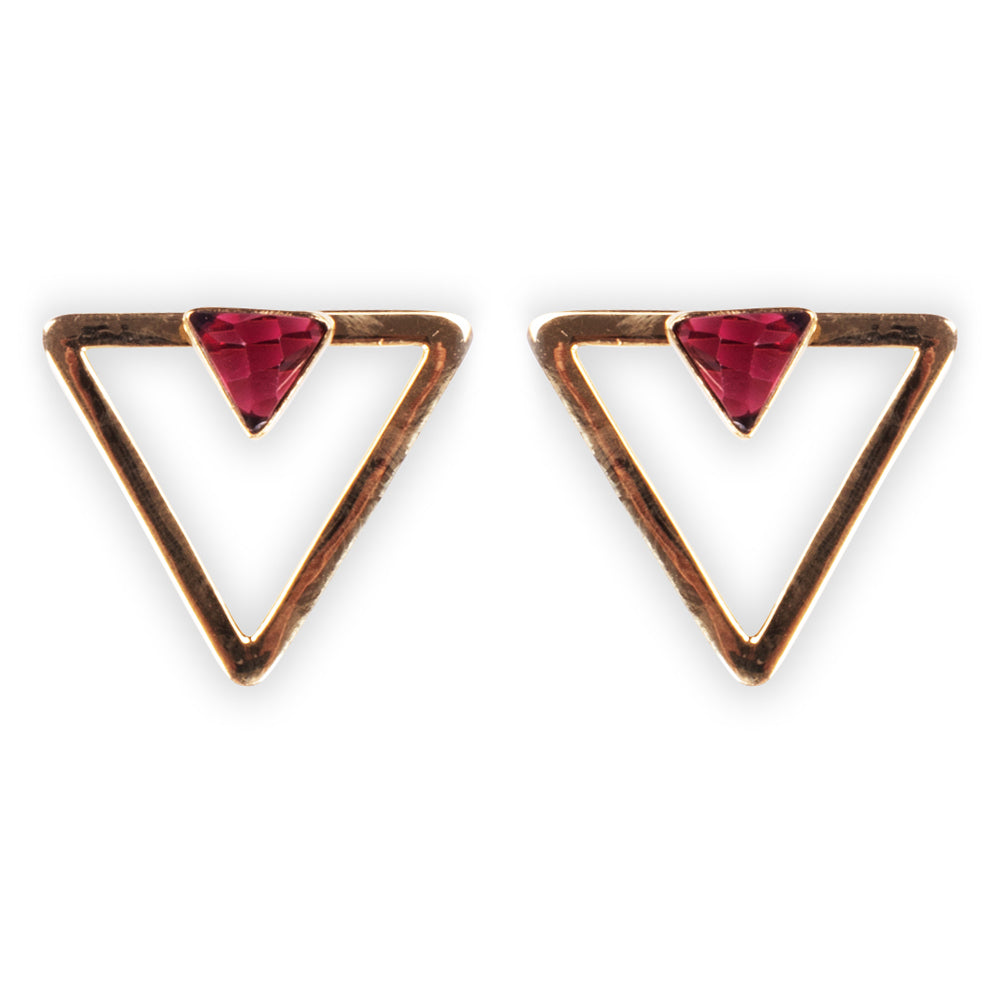 Cleo Smalls Garnet Quartz Earrings