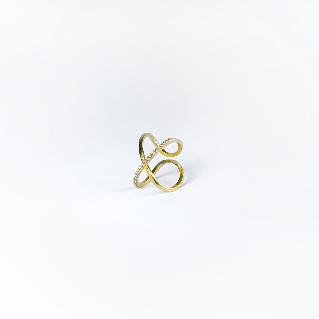 XO Cuff Ring - Gold