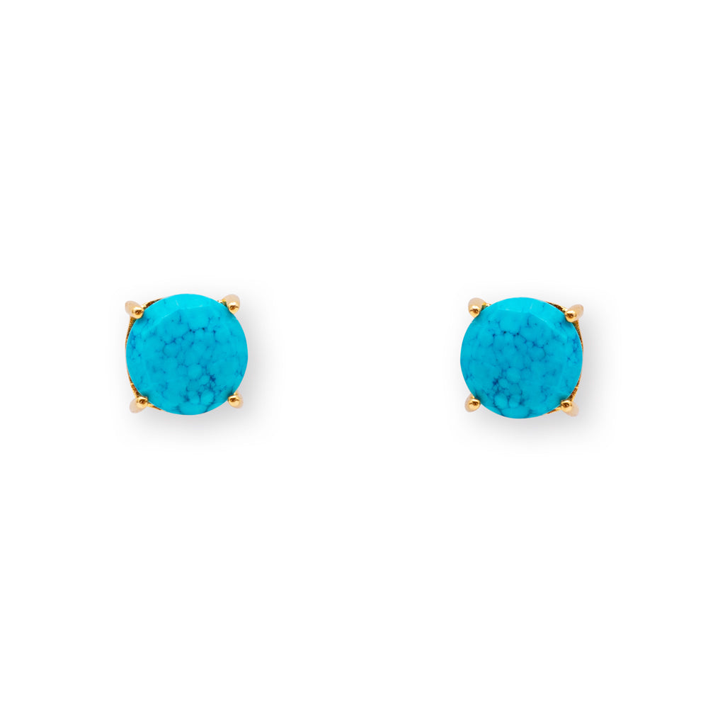 Turquoise Aurora Stud Earrings
