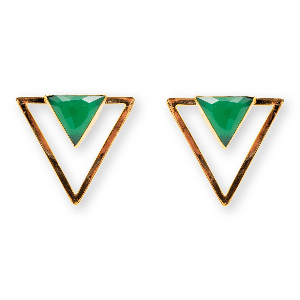 Cleo Green Earrings
