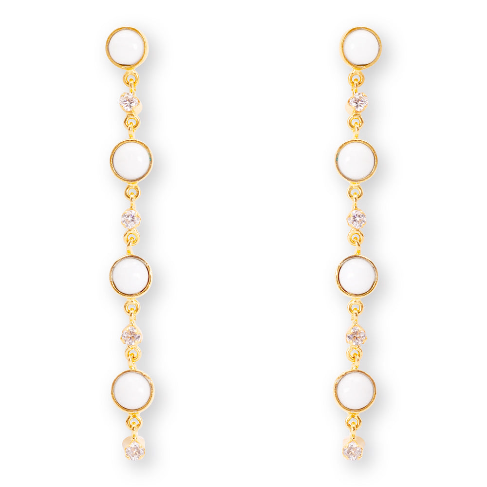 Allure White Earrings
