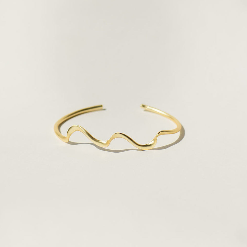 Wave Cuff Brass