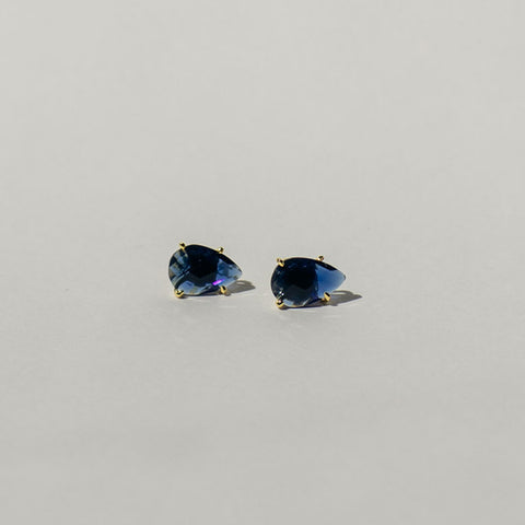 Dark Blue Lolite Quartz Stud
