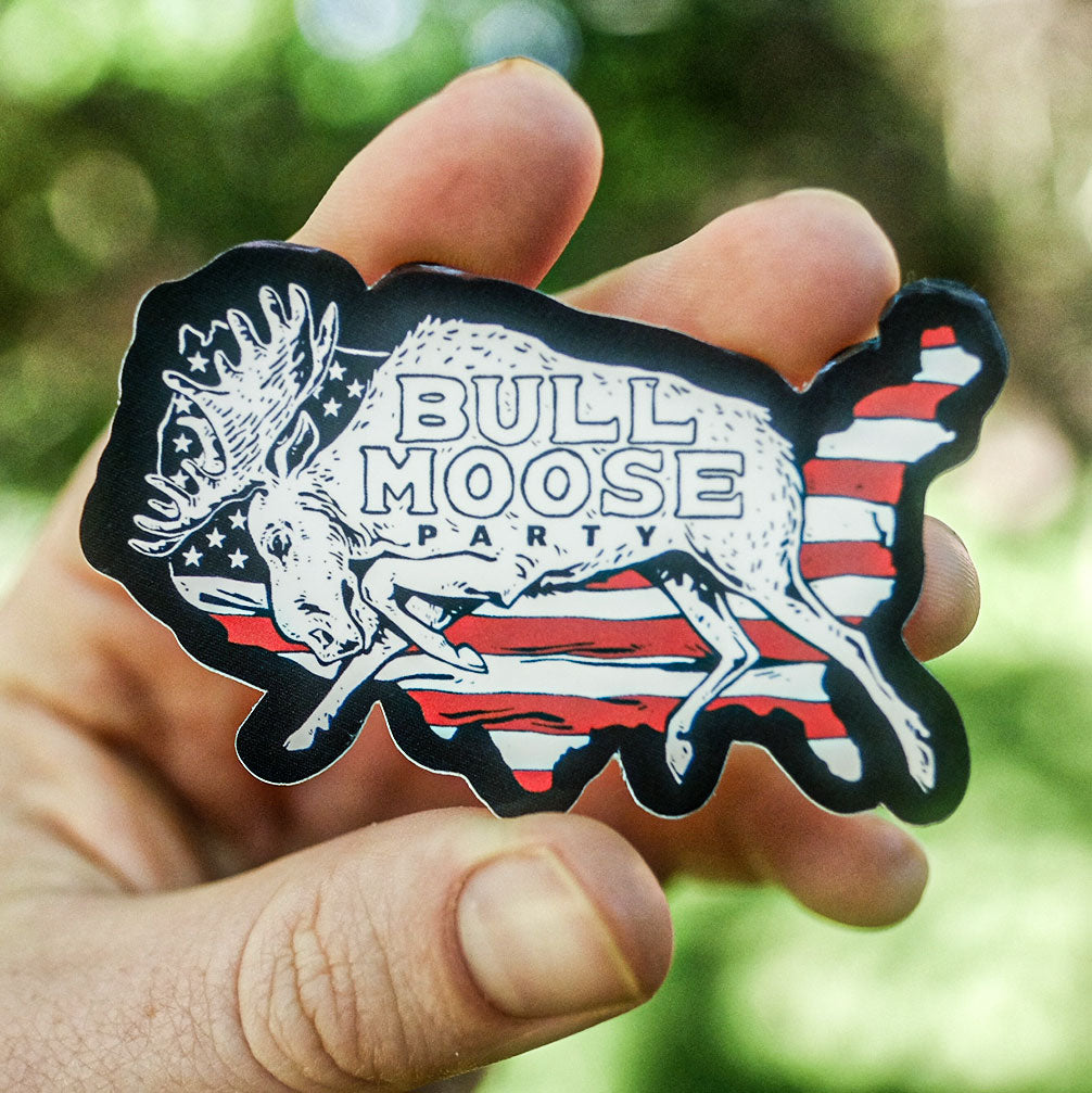 Bull Moose Party Sticker