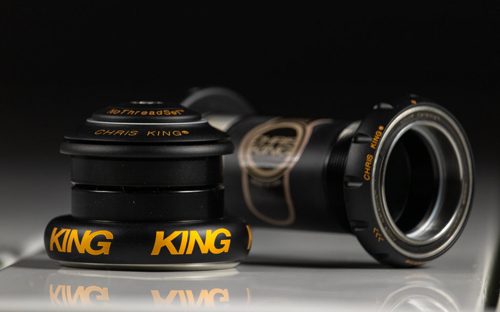 Chris King Two-Tone headset and bottom bracket