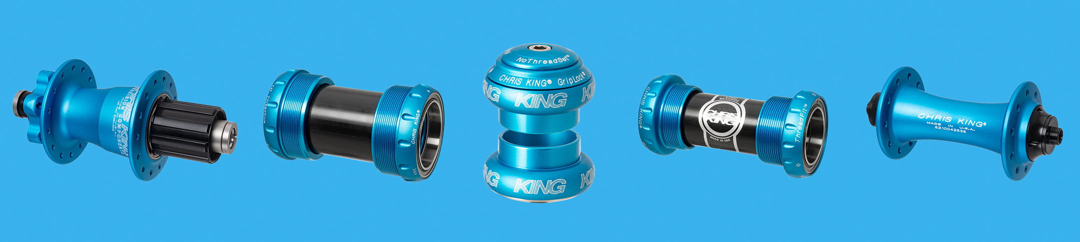NEW! Chris King Matte Turquoise Components