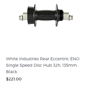 White Industries Rear Eccentric ENO Disc Hub