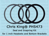 Chris King Seal & Snapring Kit for 1 Inch Headsets, ThreadFit 24, PressFit 24, & T47 24 Bottom Brack
