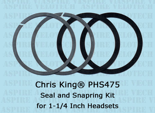 Chris King PHS475 1-1/4 Inch Seal & Snapring Kit For NoThreadSet 2Nut GripNut Headset/30mm BB