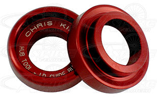 Chris King LD Guide Bushings (pair) - Red (small part for the THB001 Hub Service Tool Kit)