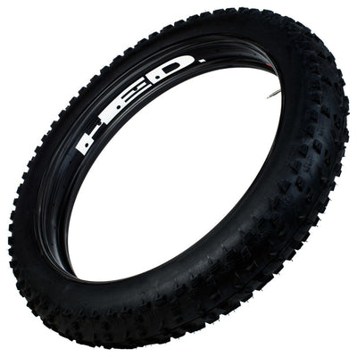 "Hed Big Fat Deal (bfd) All Carbon Fat Bike Rim, Tubeless 26"" X 100 Mm Wide 32 Holes  (erd 564)"