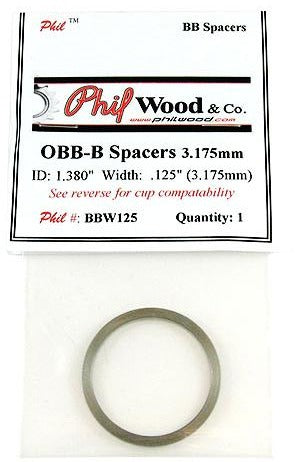 Phil Wood Outboard Bottom Bracket Cup Spacer 0.125