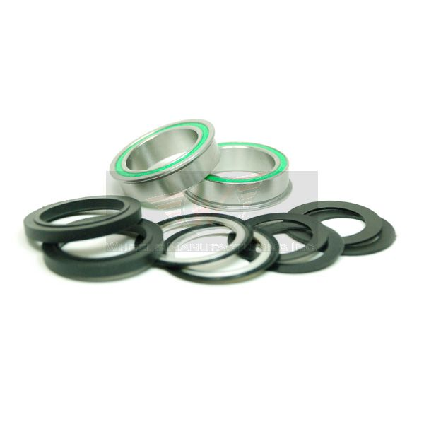 BB86 to 30MM Kit for PressFit 86/92 Bottom Bracket with Flanged, Dual Row Stainless Steel Sealed Bearings