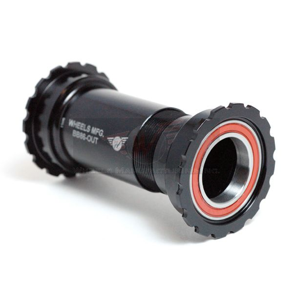 Black - Shimano Compatible w/ AC Bearings, PressFit 86/92 Bottom Bracket - Threaded