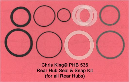 Chris King Seal & Snap Ring Kit For Rear Classic, ISO Disc,Single Speed, and BMX Hubs only