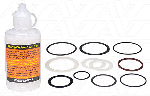 Hub Maintenance Kits for Chris King Front R45 Hubs with Steel Bearings