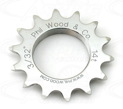 Phil Wood Track Cog - 3/32 inch - Stainless Steel
