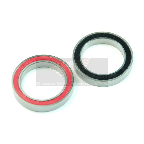Enduro 6806 Angular Contact Sealed Cartridge Bearing. Install with red seal facing outwards.