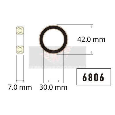 Enduro 6806 Angular Contact Sealed Cartridge Bearing Dimensions