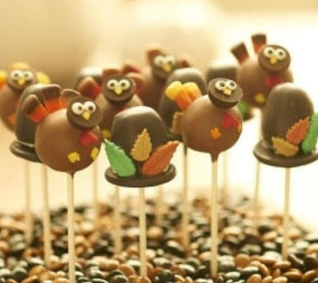DOZEN TURKEY & PILGRIM HAT POPS