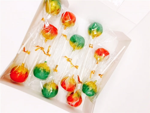Red, Green, and Gold Glittered Dozen Red Velvet Cake Pops