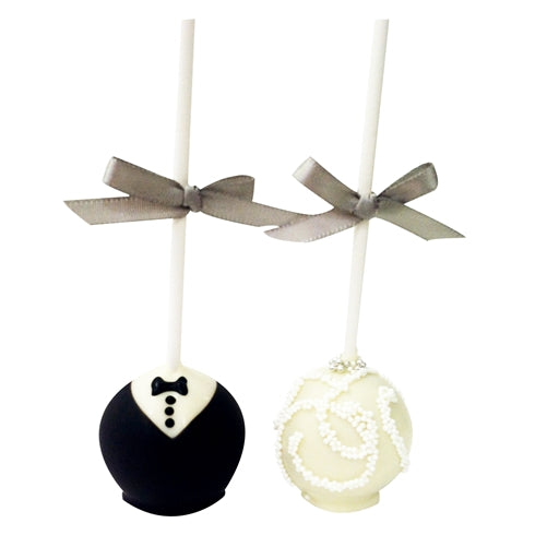 Dozen Bride and Groom Cake Pops