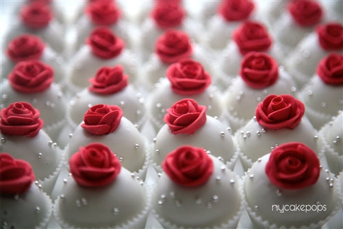 Dozen Red Rose Cake Pops