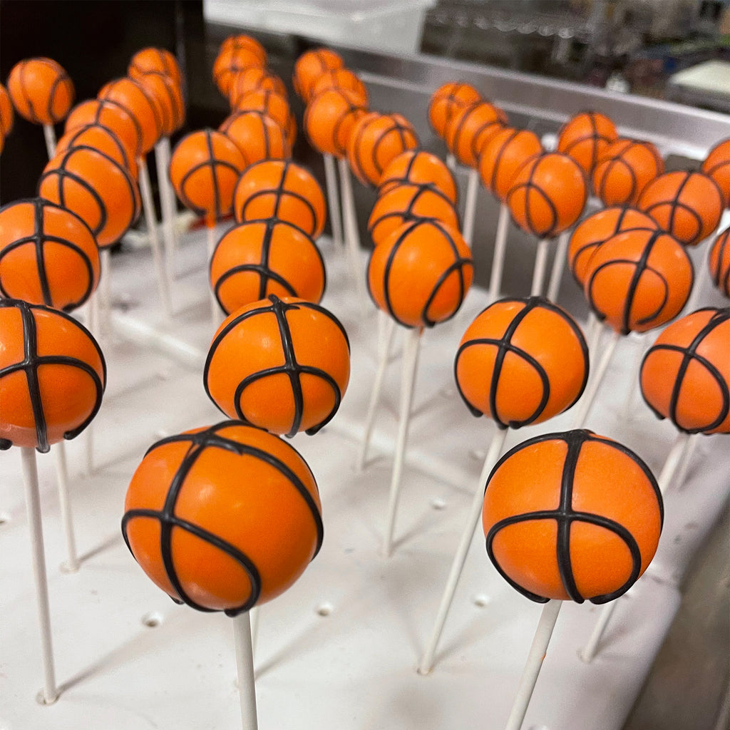 BASKETBALL CAKE POPS DOZEN