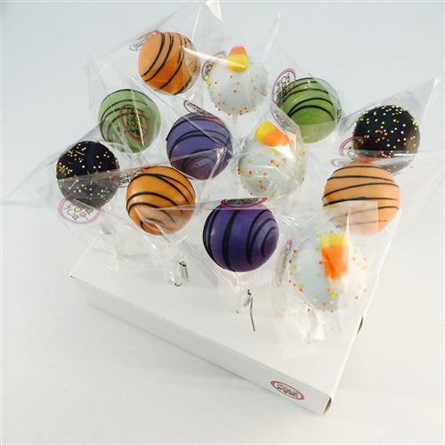 DOZEN HALLOWEEN COLOR THEMED CAKE POPS