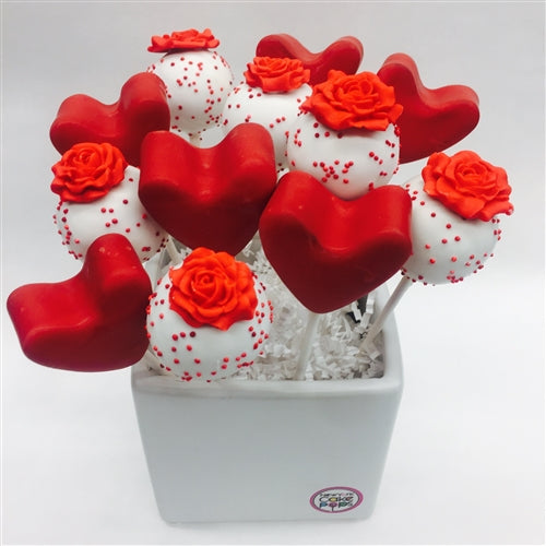 Dozen Roses and Hearts Cake Pops Mix