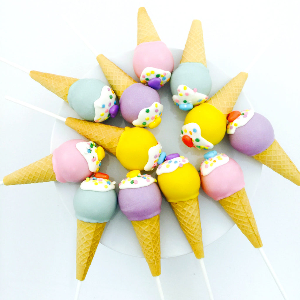 Pastel Ice Cream Cake Pops